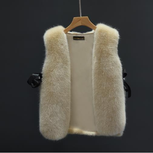 Brasão Faux Fur Vetement 2019 das mulheres do inverno Artificial Fur Vest Fluffy Coletes Femme Jackets Oversize Fluffy Falso G Q1001