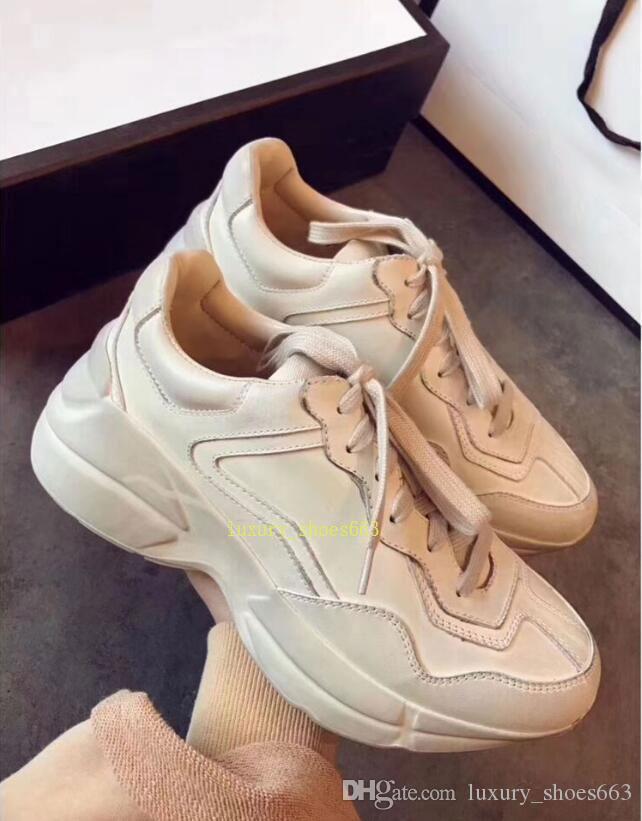 Top Quality Luxury Designer Brand Mens Women Casual Shoes Rhyton ... 346687c98