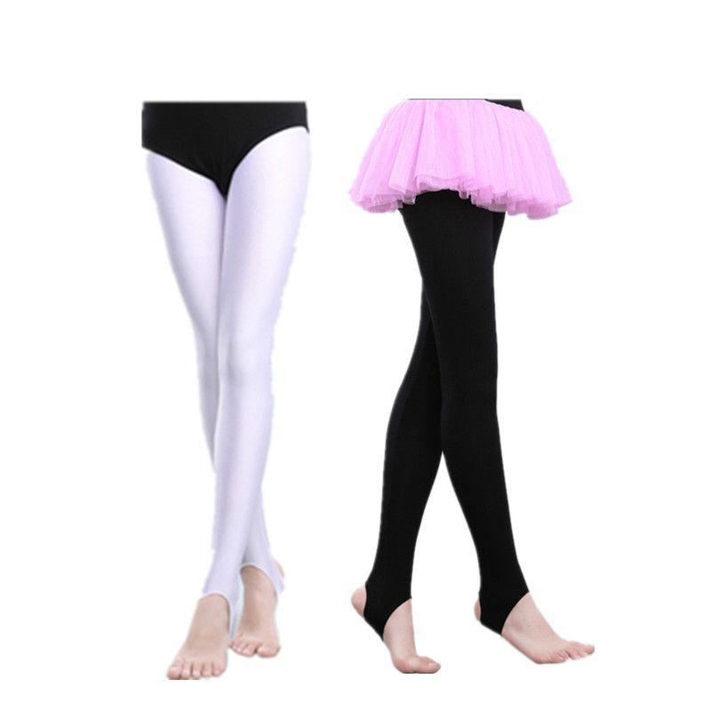 3f58ee2bbdc 2019 Kids Girls Ballet Stirrup Tights Pantyhose Stockings Dance Leggings  Yoga Gymnastics Leotard Ballet Socks Dance Pants Girl From Jellwaygood