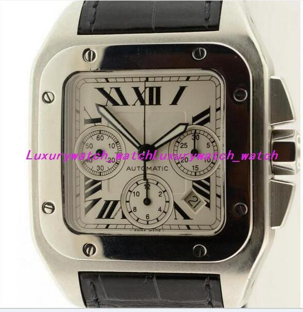 Luxury Watches 42mm W20090X8 White Dial Men's Watch Wristwatch Quartz Chronograph Black Strap Men Wristwatch 2019