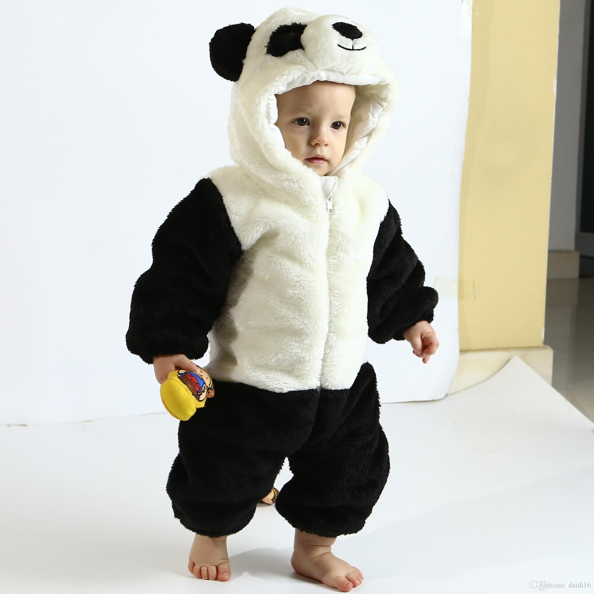 fe18bd014e0c Thicken Children s Wear Newborn Toddler Baby Animal Romper Outfits ...