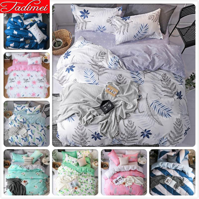 Grey Duvet Cover 3/4 pcs Bedding Set Adult Kids Soft Cotton Bed Linen Single Full Queen King Big Size Bedspreads Quilt Comforter
