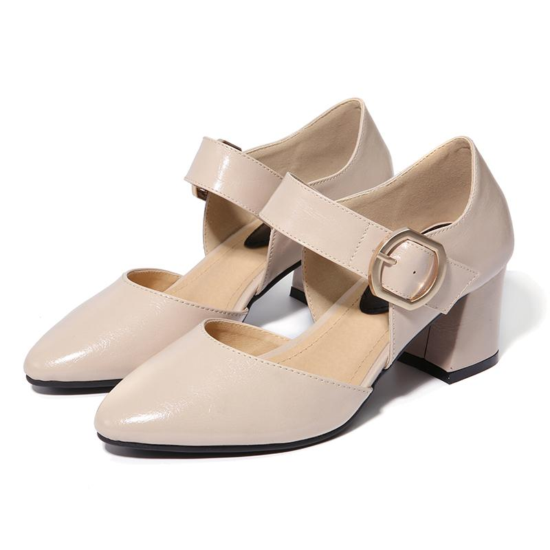 90e8967fca57 Nis Women Pointed Toe Mary Janes Shoes
