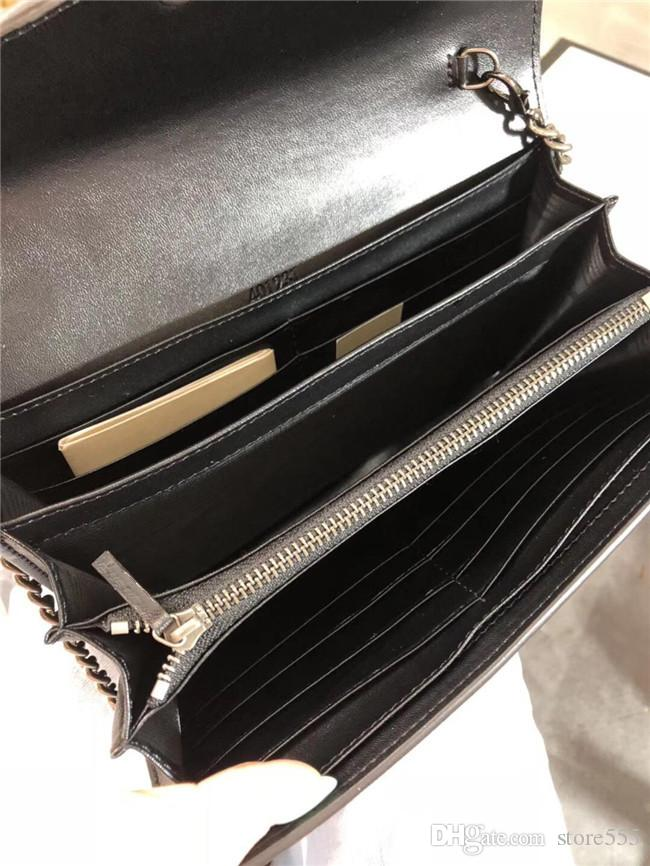Luxury Classic Genuine Leather Lady Messenger Bag Multi-card bit Clutch Designer Shoulder Bag Chain Handbag Wallet with Gift Box 2019 Hot 08