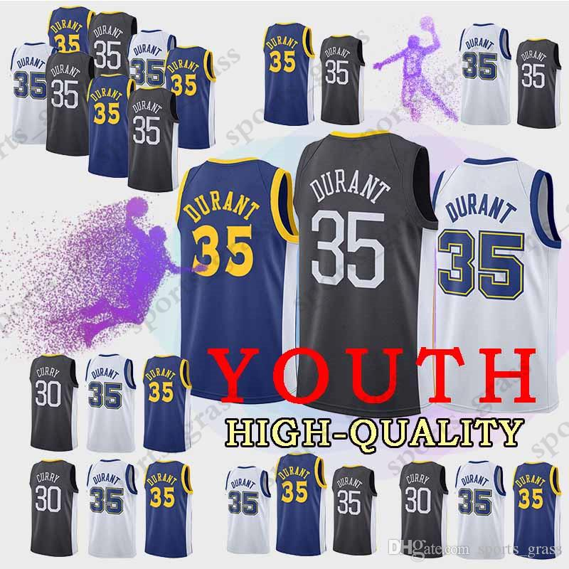 YOUTH Golden State 35 Kevin Durant Warriors Jersey 30 Stephen Curry ... 34d6f320d