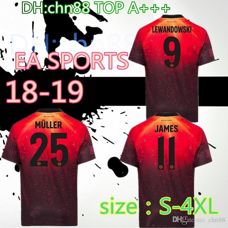 6e401bf40b4e6 Tamaño  S 4XL EA Deportes Camiseta De Fútbol Del Bayern Munich James 2018  2019 KIMMICH VIDAL LEWANDOWSKI MULLER HUMMELS DE TOLISSO Camisetas De  Fútbol ...