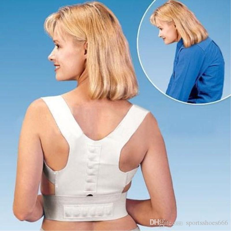 S-XXL Postura Corrective Therapy Back Brace Male Female Ajustable Magnetic Posture Corrector Corset Back Support Belt # 220336