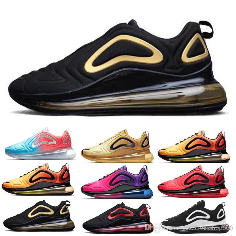 nike air max 720 720s 72c airmax Betrue Pride Shoes Hombres Mujeres Be True Gilbert Baker Rainbow flag Multi Triple Negro