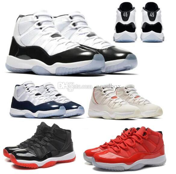 8e4945aed14c87 Concord 11 Bred 11s Mens Wholesale Basketball Shoes 11s Platinum Tint Space  Jam Gamma Blue With Box Men Women Sports Sneakers Shoes Basketball Girls ...