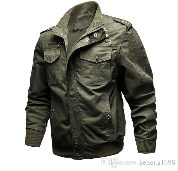 TACVASEN Military Jacket Men Winter Cotton Jacket Coat Army Men's Pilot Jacket Air Force Autumn Casual Cargo Jaqueta