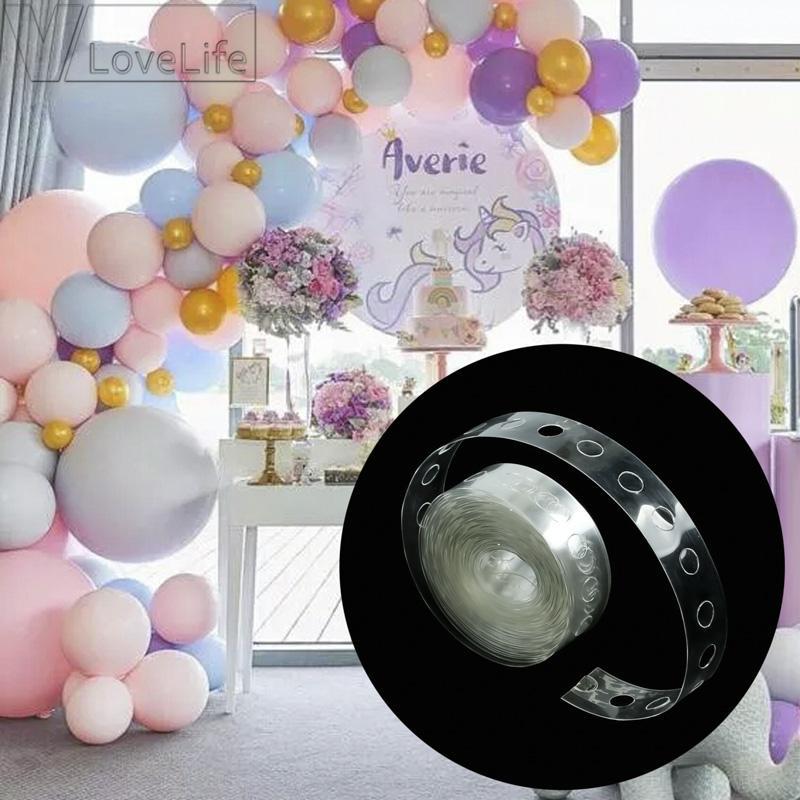 L'arco del nastro della catena del pallone di 5m collega il collegamento del pallone della striscia la decorazione della festa di compleanno di nozze