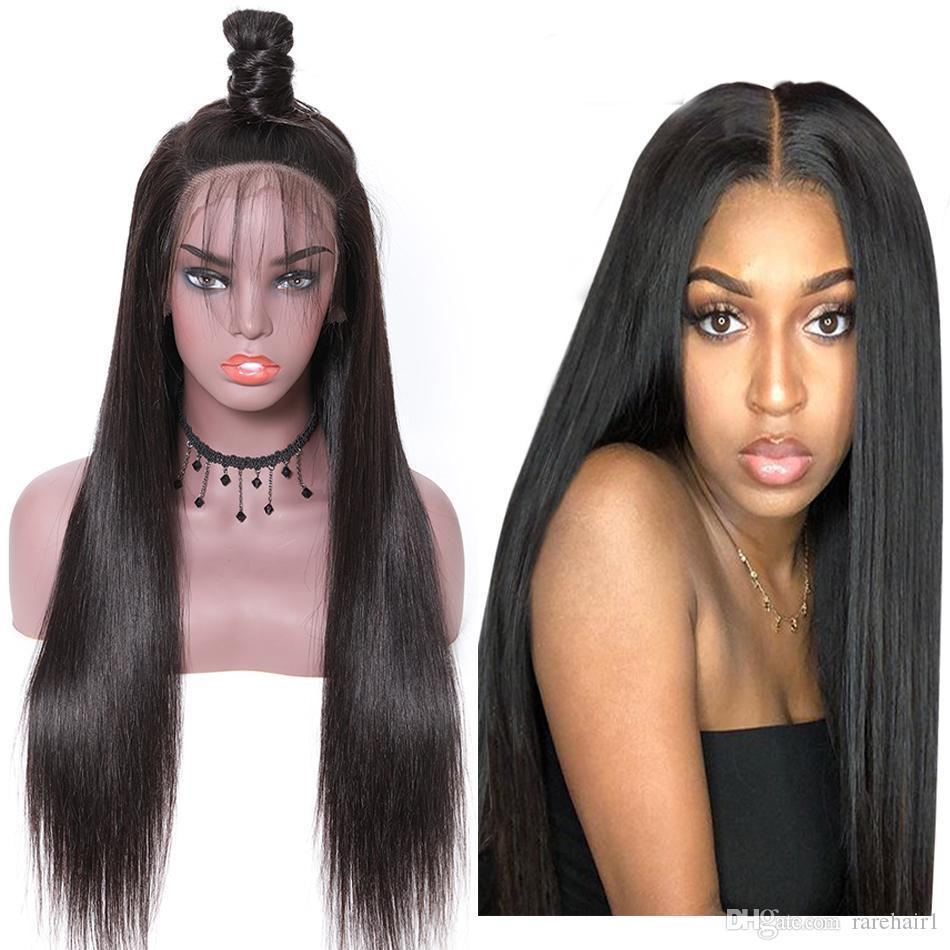 Peruvian Indian Straight Lace Front Wig Remy 360 Lace Frontal Wig 150% Density 13X4 13X6 Malaysian Straight Lace Front Human Hair Wigs