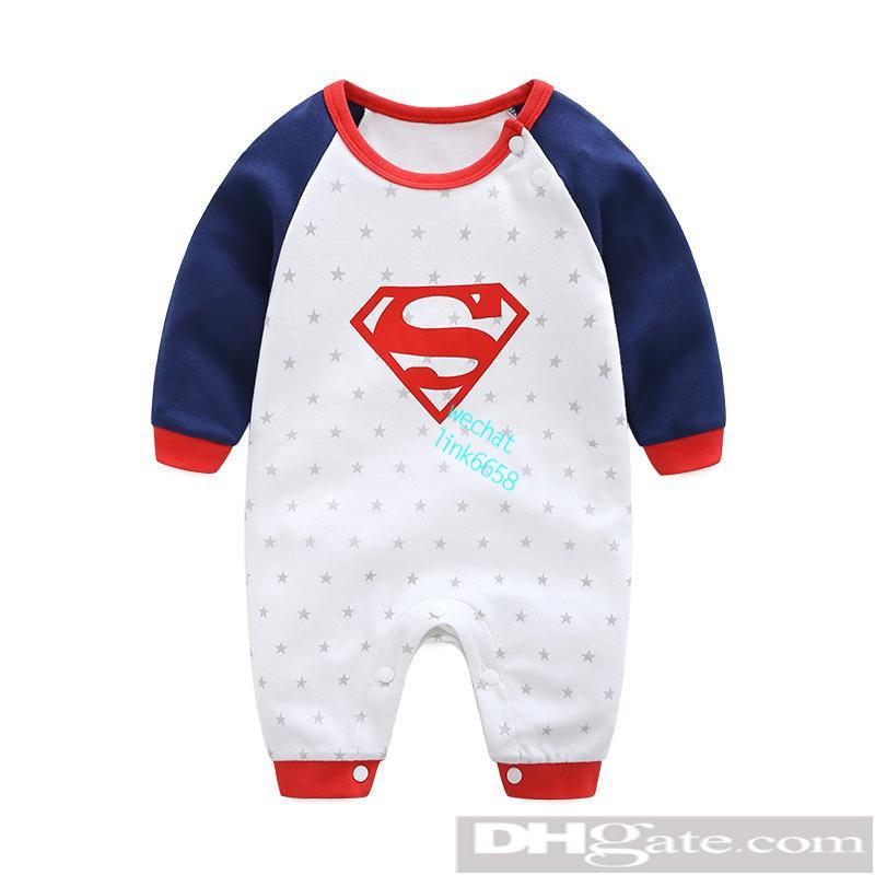 8878ad32b 2019 Round Neck Cotton Uniform Clothing New Newborn Baby Romper Boy ...