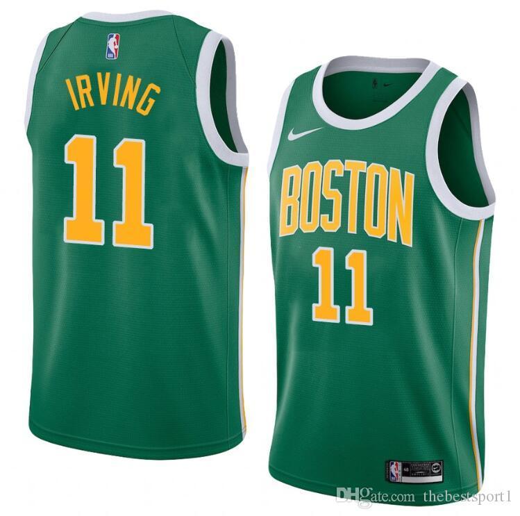 super popular 3df63 31ac8 Men New Season Jersey Kyrie Irving Reward Edition Baketball Jerseys - Green