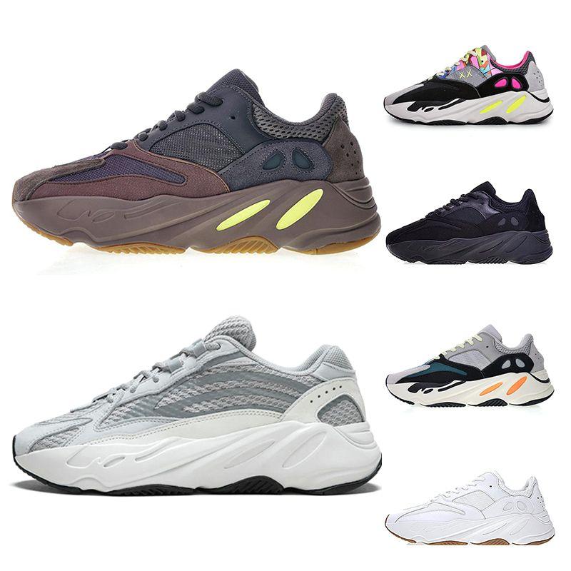 ed74a4255 700 V2 Wave Runner Running Shoes For Men Women Kanye West Triple ...