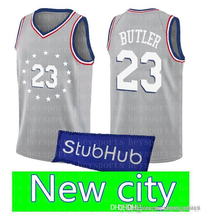 buy online d7f83 a9295 New city 23 Jimmy Butler 76ers 25 Derrick Rose Timberwolves Jersey 3 Dwyane  Wade Heat 77 Doncic Jerseys 35