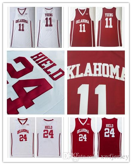 8be8a8a7d3cd Hot Sale Oklahoma Sooners College Trae 11 Young Jersey Buddy 24 ...