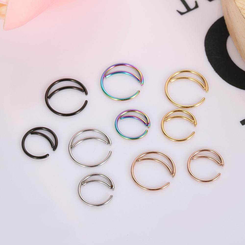 Metal Moon Nose Ring Hoop Indian Nose Rings Septum Ring Jewelry Piercing Small Body Jewelry Fashion Drop Shipping