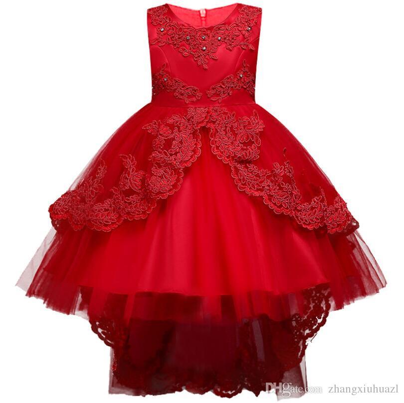 ee34788c0f66b Acheter Enfants Robe De Soirée Pour Fille Mariage Soirée De Noël Robes  Formelles Robe De Mariée Pour Fille Sans Manches Pour Fille 4 14 Ans  Princesse D été ...