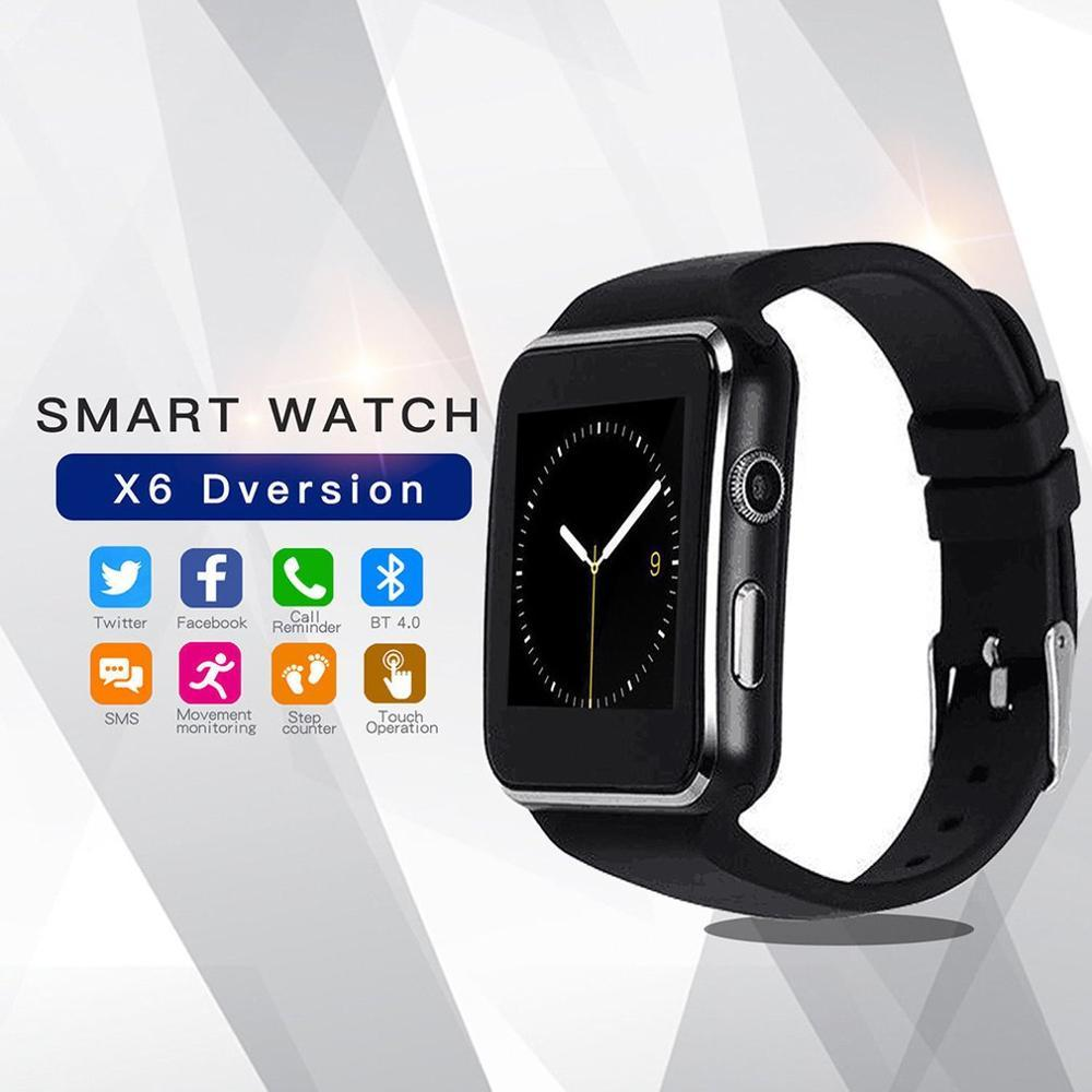 Bluetooth Smart Watch X6 Sport Smartwatch With Reloj Support Sim Card Whatsapp Facebook For Android Phone Montre Femme Relogio