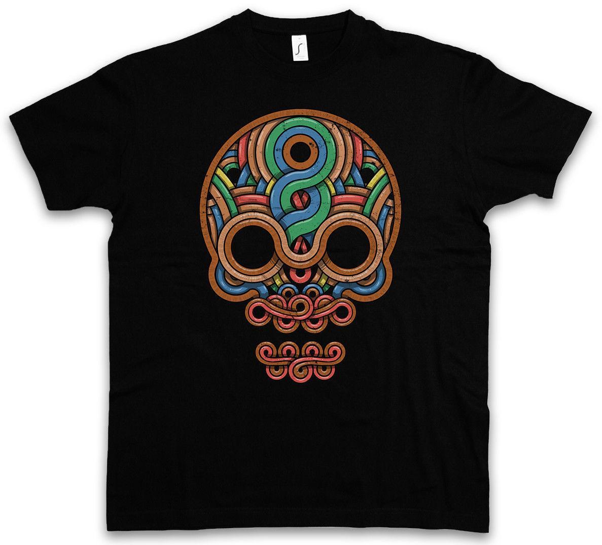 Acheter Maya Azteken Mayans Indiens Skull Inka Shirt Inca Aztèques T 534RcqAjL