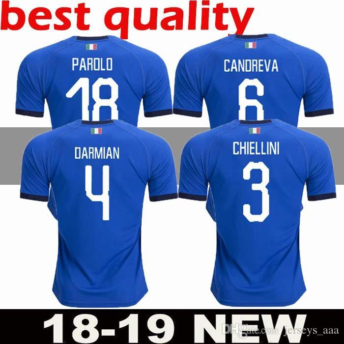 d5336a0b44c 2019 2018 World Cup Italy Home Adults Futbol Camisa Totti Pirlo Insigne Del  Piero Soccer Jerseys Italia Football Camiseta Shirt Kit Maillot Men From ...