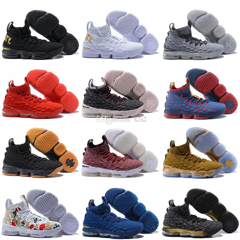 size 40 cc90d ad171 2019 Ashes Ghost Floral equality Lebrons 15 Basketball Shoes men Lebron  shoes Sneaker 15s Mens sports Shoes James 15