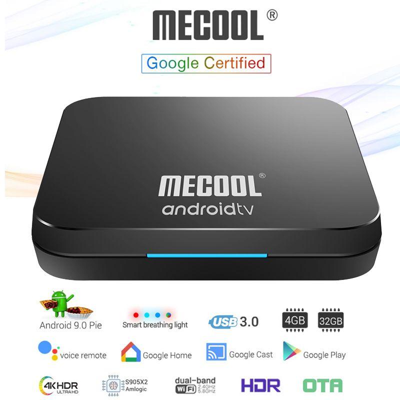 Mecool KM9 Pro Android 9 0 pie ATV TV Box Voice Remote Google Certified  Smart Set Top Box Amlogic S905X2 LPDDR4 4GB 32GB Bluetooth Dual Wifi