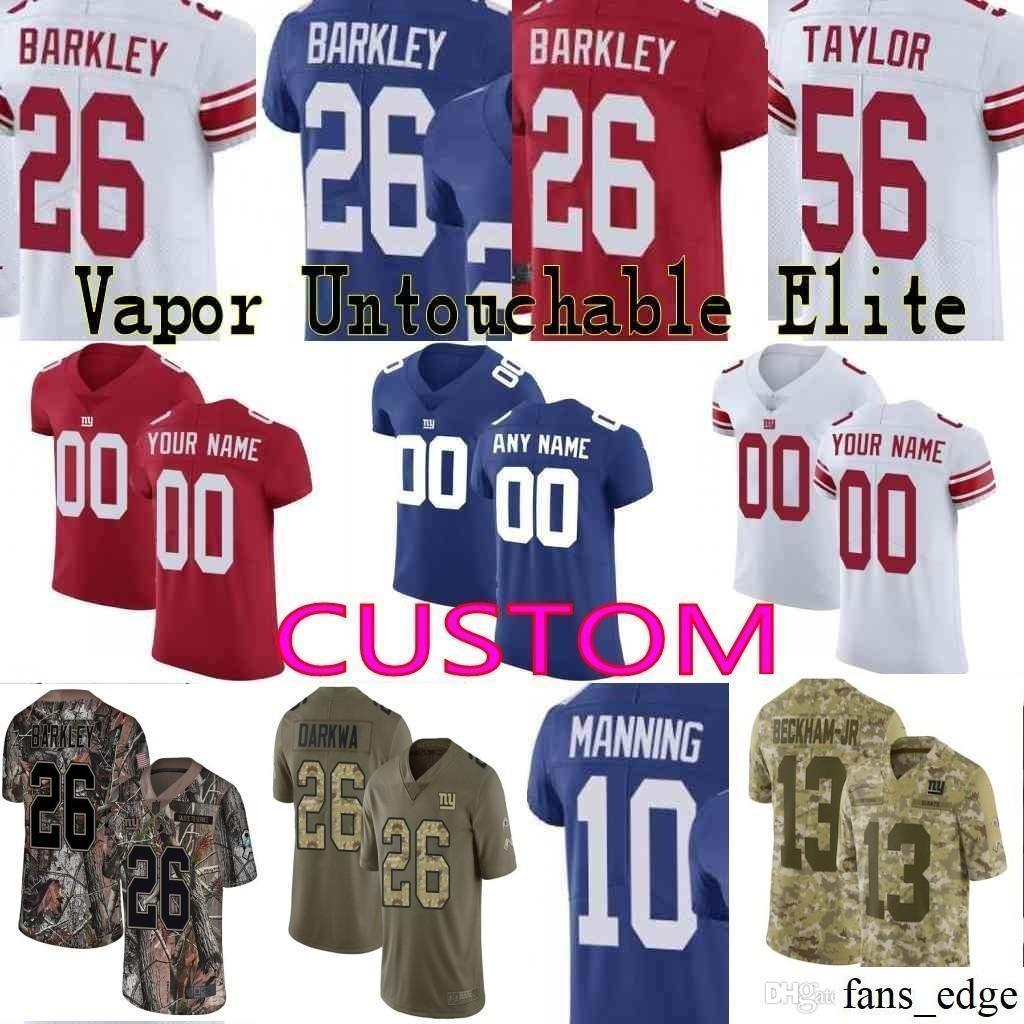 2019 Custom Men Youth Women New York Giants 26 Saquon Barkley Odell Beckham  Jr Eli Manning Lawrence Taylor Camo Salute To Service Elite Jersey 02 From  ... dc40b747d