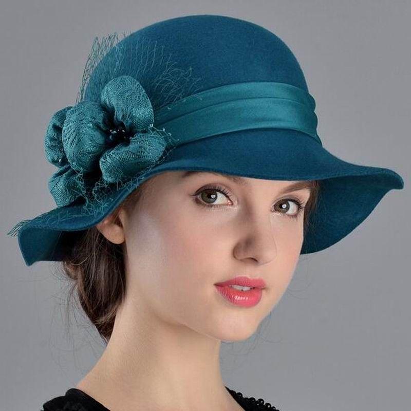 Compre Sombreros De Las Mujeres Otoño Invierno Moda Sombrero Elegante Señora  Lana Boina Mantener Calientes Inglaterra Estilo Fedoras A  61.36 Del  Xiajishi ... 73f96480eda