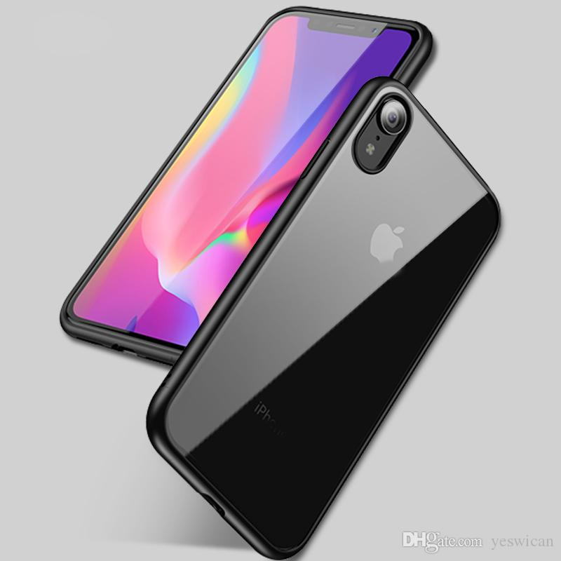 low cost 0ba44 7a806 iPaky Case For iPhone X XS Max XR Ultrathin Transparent Back Cover PC TPU  Drop-proof Hard Soft Cases With Retail Package In Stock Wholesale