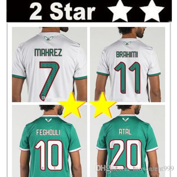 Thailand 2019 Algeria soccer jersey Africa Cup HOME AWAY AFCON MAHREZ  BRAHIMI BOUNEDJAH BOUAZZA 19 20 algerie football shirt 2 two stars