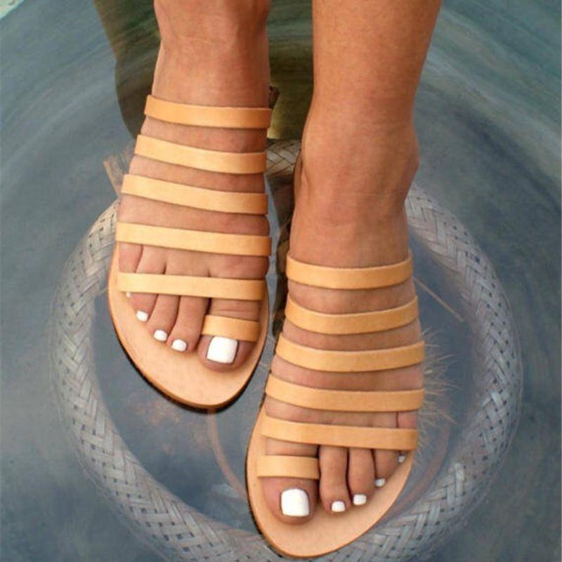 5b928dd28cff Gladiator Sandals Women Shoes Slippers Ladies Flat Sandals Roman Flip Flops  Summer Shoes Fo Women Sandalia Feminina Wedge Shoes Womens Sandals From  Faaa