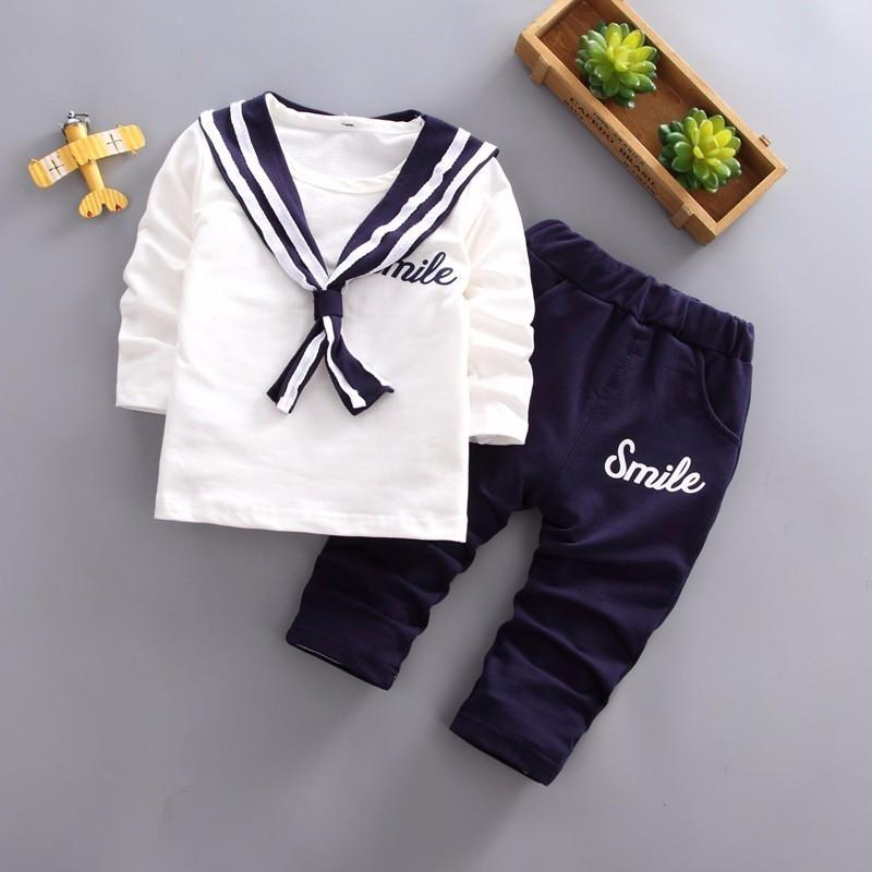 f355b7d575974e 2019 2019 New Spring Summer Children Boys Girls Leisure Clothes Baby Navy  Suit Pants  Sets Kids Fashion Toddler Cotton Tracksuits From Textgoods05
