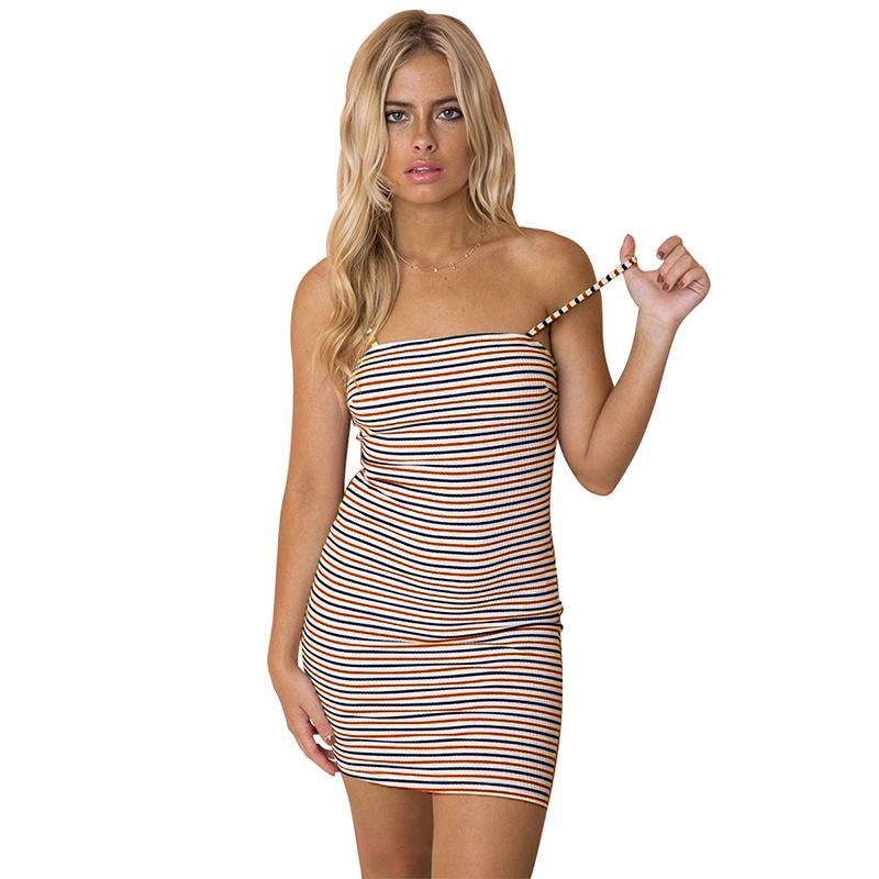 ce73e08a0d5 Women Striped Spaghetti Straps Dress Cut Out Tie Back Sleeveless Backless  Summer Mini Dresses Casual Cami Dress Sundress 2019 Wrap Dresses Plus Size  Evening ...