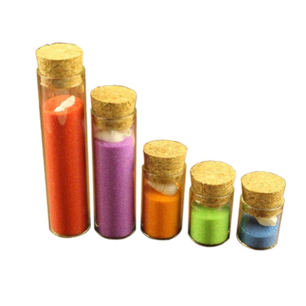 5ml Mini Glass Vials Jars Packaging Bottles Test Tube With Cork Stopper Empty Glass Transparent Clear Bottle