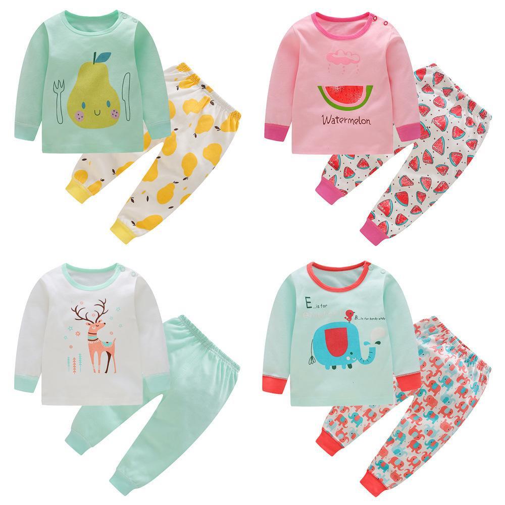 c61e63eb6c Kids Pajamas Sets Christmas Toddler Pyjamas Cotton Fall Outfits Long Sleeve Kids  Girls Sleepwear Children Boys Clothing Set Online with  52.08 Piece on ...