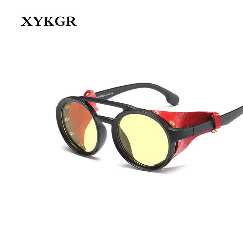 b9ab7c0d3a XYKGR New Round Glasses Men S Trend Steampunk Personality Sunglasses Ladies  Gradient Lens Glasses UV400 Fashion Sunglasses Hut Reading Glasses From  Gocan