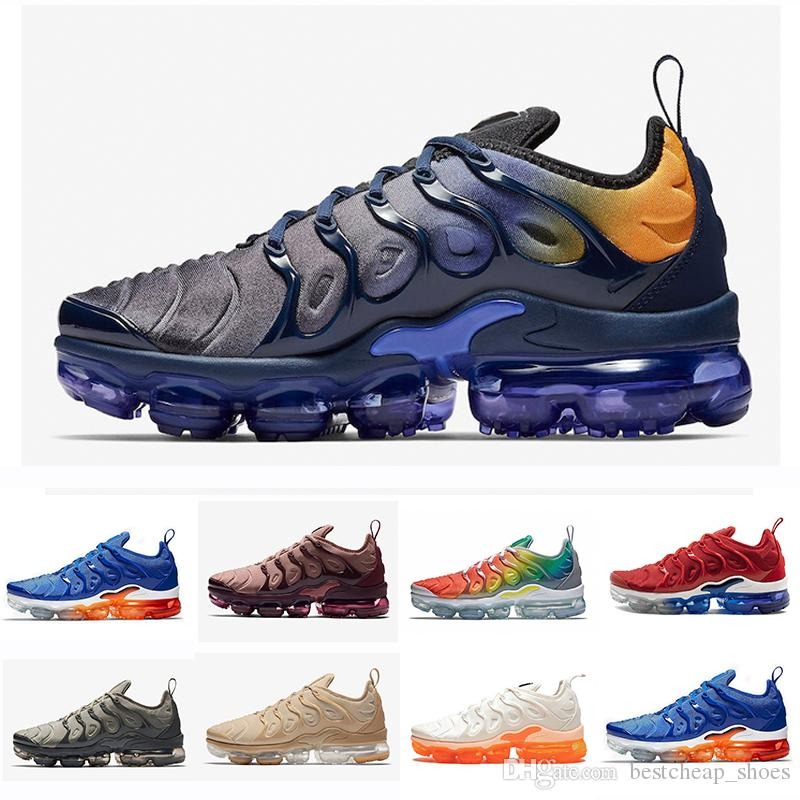 2019 2018 New Air Vapors TN Plus TNs Mens Running Shoes Hyper Blue Rainbow  Game Royal Smokey Mauve STRING Maxes Sports Men Sneakers Chaussures From ... a25adbc99