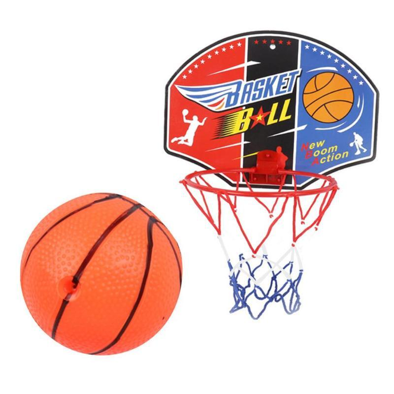 23220c108ac Kids Cartoon Mini Basketball Toy Portable Indoor Outdoor Small Basketbal  Backboard Toys Friction Wear Resistant Collision Little Tykes Basketball  Toddler ...