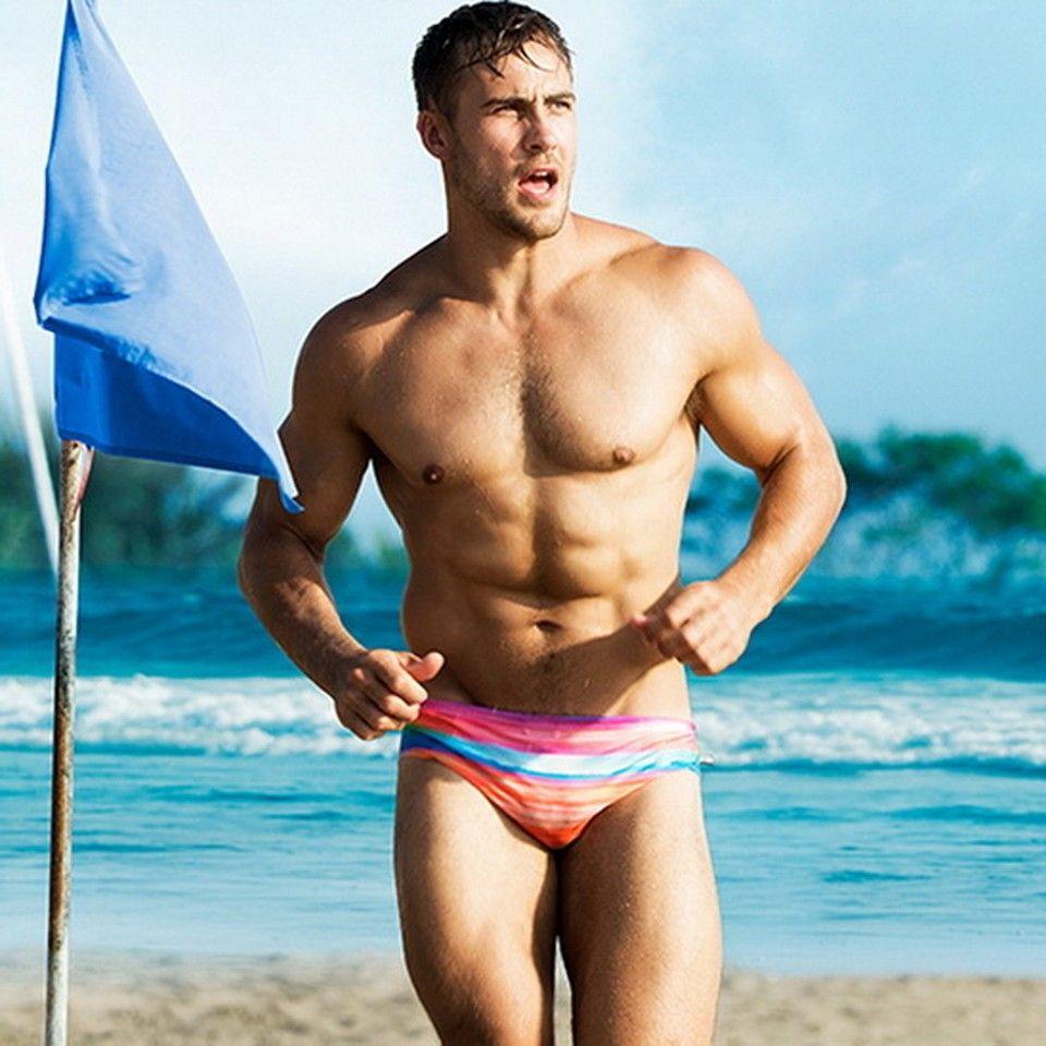 74b49e988595f 2019 Stripe Men Swimsuit Briefs 2019 Hot Sale Mens Swim Shorts Swimming  Trunks Surf Boardshorts Beach Swimwear Of Male From Junxcj, $34.57 |  DHgate.Com