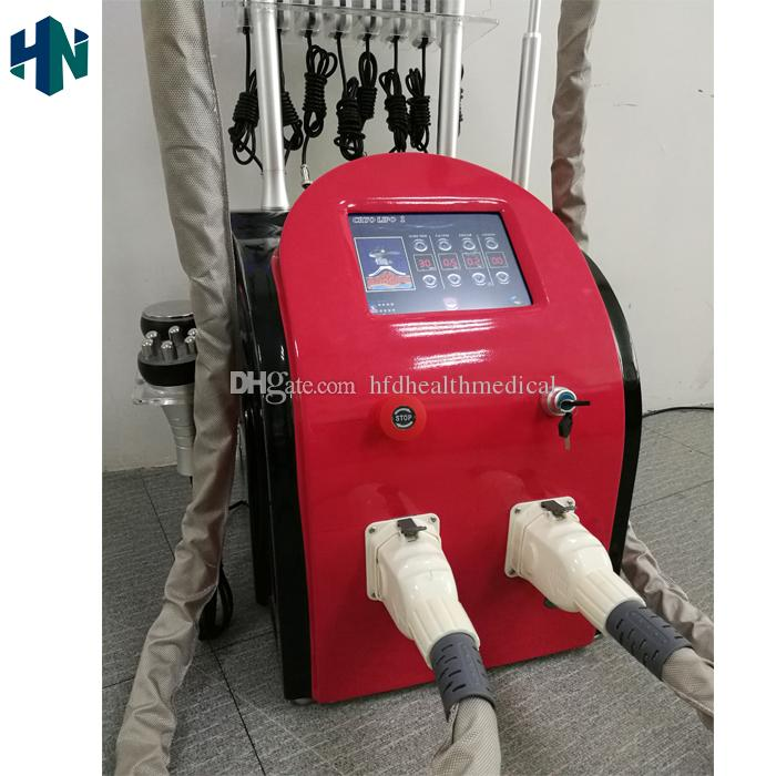 2019 diode lipolaser equipment cryolipolysis slimming rf vacuum slimming  machine fat freezing handle can work together