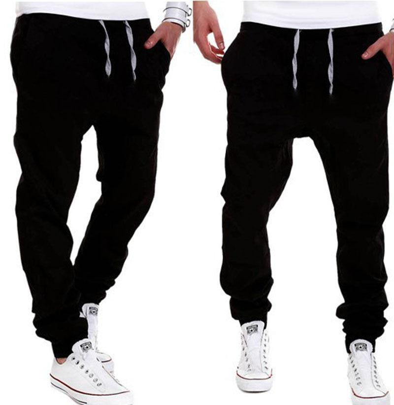 bd303528a50 Plus Size Men S Clothing Pants Cotton Fashion Joggers Men Casual Pants  Black Khaki Pants Trousers Spring Autumn UK 2019 From Bamdan