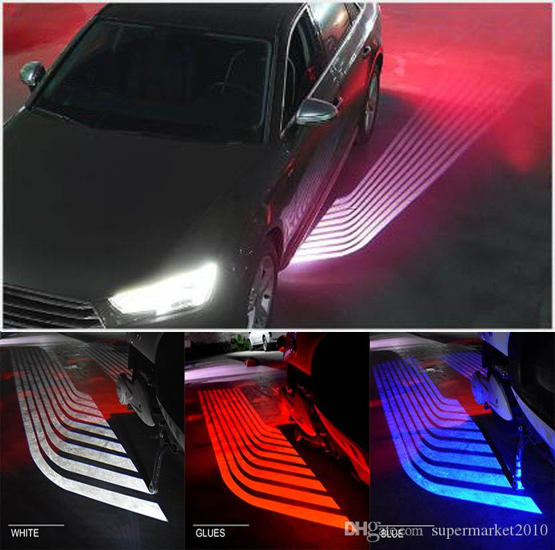 2pcs LED Car Angel Wings lights Motorcycle lights LED welcome door light SUV 12V 24V White Red Blue Yellow Projector Ghost lamp
