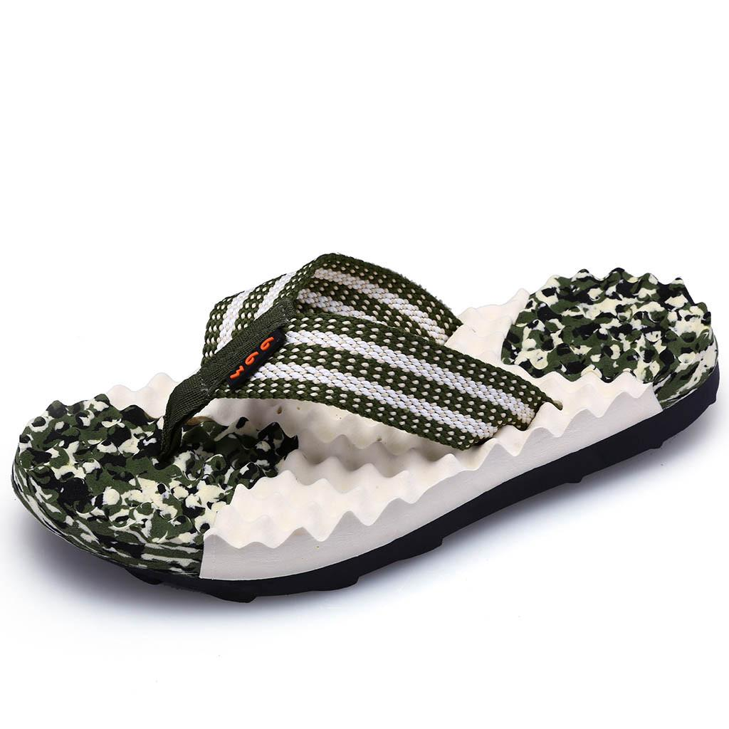 87cee8944139a Comfort Sandals Summer Men Camouflage Flip Flops Shoes Sandals Open Toe  Slipper Indoor & Outdoor Flip Flops 39 45 Male Shoes O31 Ladies Slippers  Boys ...
