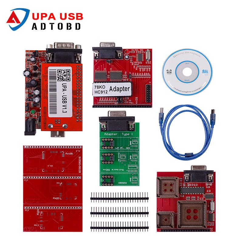 Best Selling UPA USB Serial Programmer Full adapters V1 3 Popular Eeprom  Universal Chip Programmer auto ECU Tool