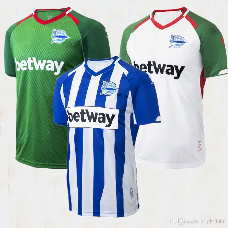 2018 2019 Deportivo Alaves Camisetas De Fútbol 18 19 Alaves Casa SOBRINO  GUIDETTI Camiseta IBAI De Fútbol De Visitante BURGUI ADRIáNMARíN 3ed  Uniforme De ... 1561fbd9ca201