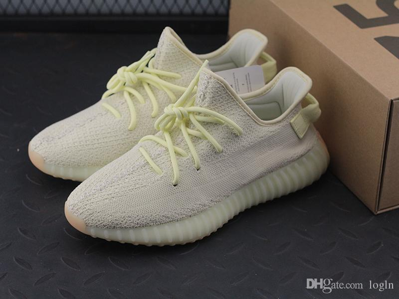 07dc936c78e 2018 New Hot Top Quatily V2 Kanye West Yeezy 350 Semi Frozen Yellow Women  Mens Luxury Designer Comfortable Shoes Sneakers Mens Boots Moccasins From .