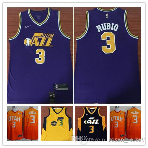 huge discount 404be 1777e 2019 New The City Edition Orange 3 Trey Burke Jersey Stitched Embroidery  Mens Utah Jazz 3 Trey Burke Basketball Jerseys Yellow Purple Blu