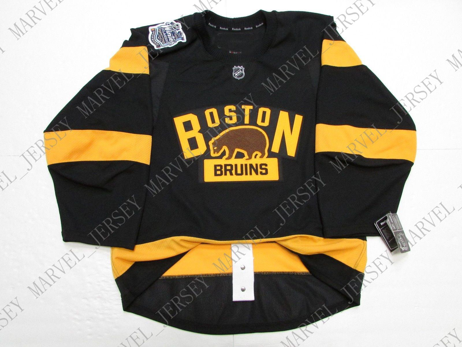 Cheap custom BOSTON BRUINS 2016 WINTER CLASSIC JERSEY WITH PATCH stitch add any number any name Mens Hockey Jersey XS-5XL